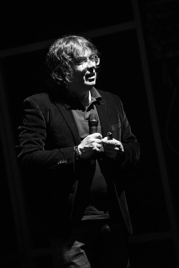 Nicola Marzari at Teatro Eliseo, Roma.