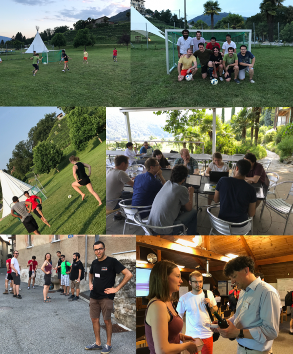 photos of cocial activities that enhanced the working atmosphere during the 2017 MARVEL Junior Retreat.