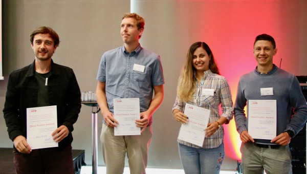 The 4 winners of the best poster award