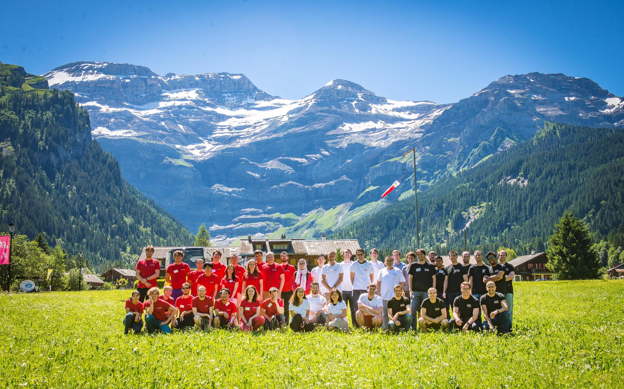 Group photo - MARVEL Junior Retreat 2016 in Les Diablerets last year