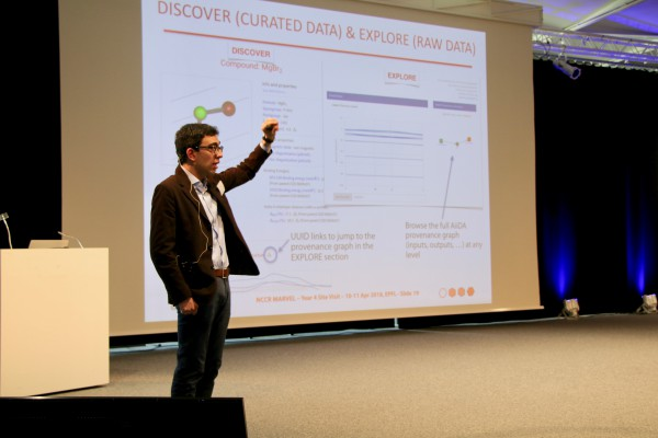 Giovanni Pizzi presents Open Science activities at the MARVEL Site Visit