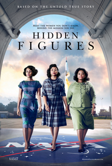 The official poster for the film Hidden Figures 2016